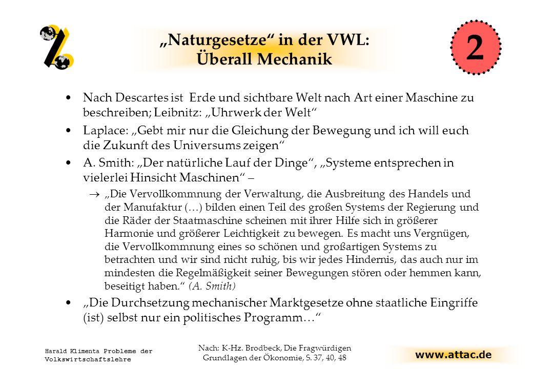 """""""Naturgesetze in der VWL: Überall Mechanik"""