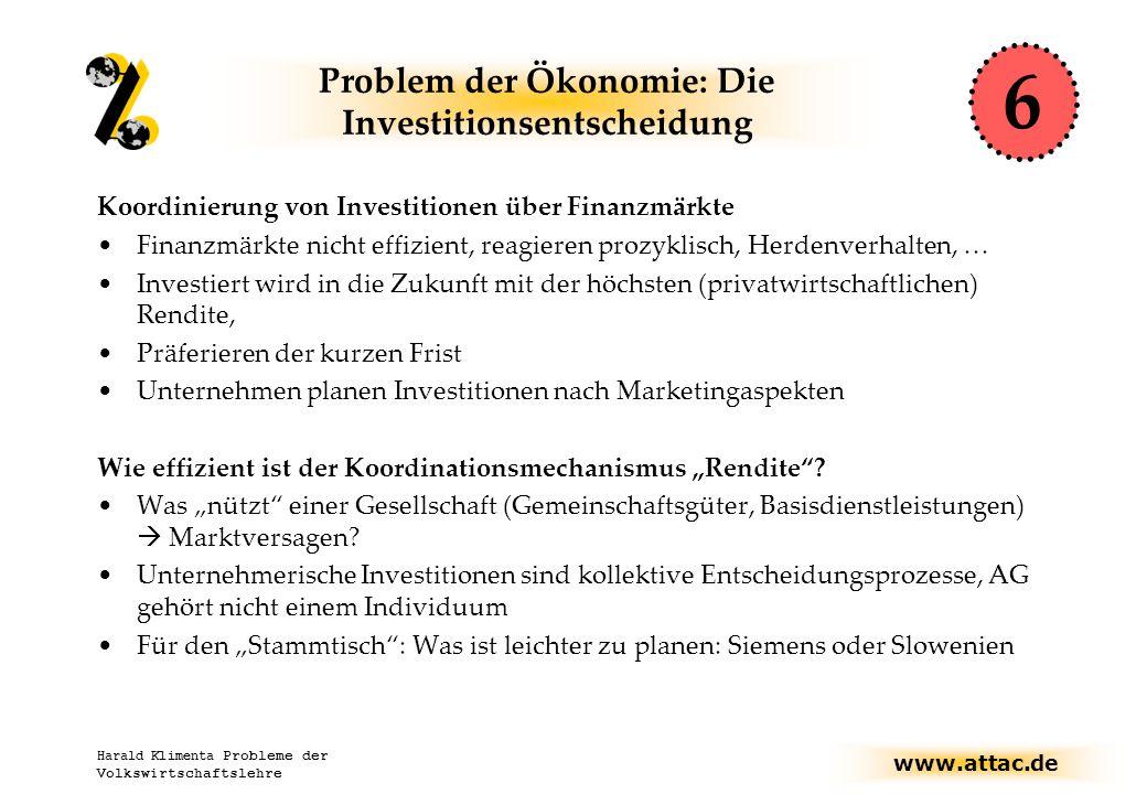 Problem der Ökonomie: Die Investitionsentscheidung