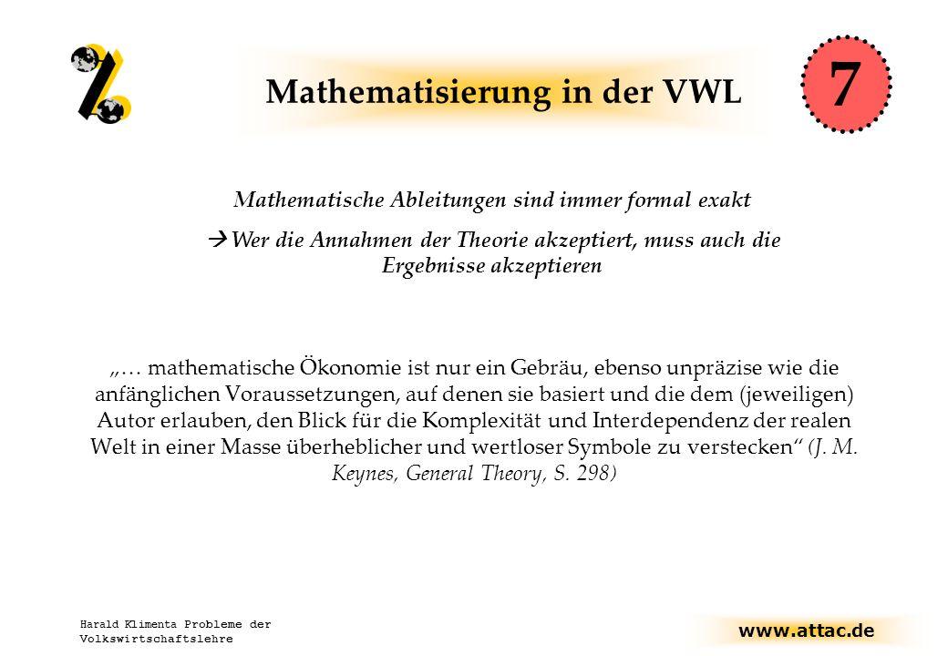 Mathematisierung in der VWL