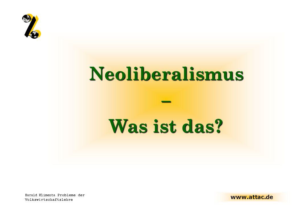 Neoliberalismus – Was ist das
