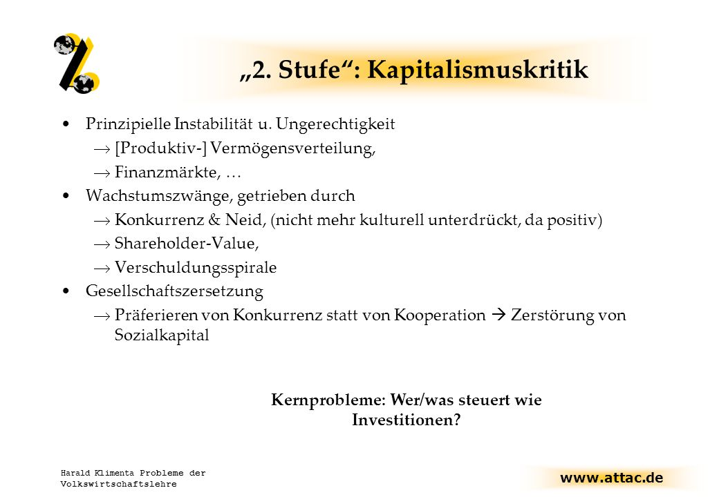 """2. Stufe : Kapitalismuskritik"