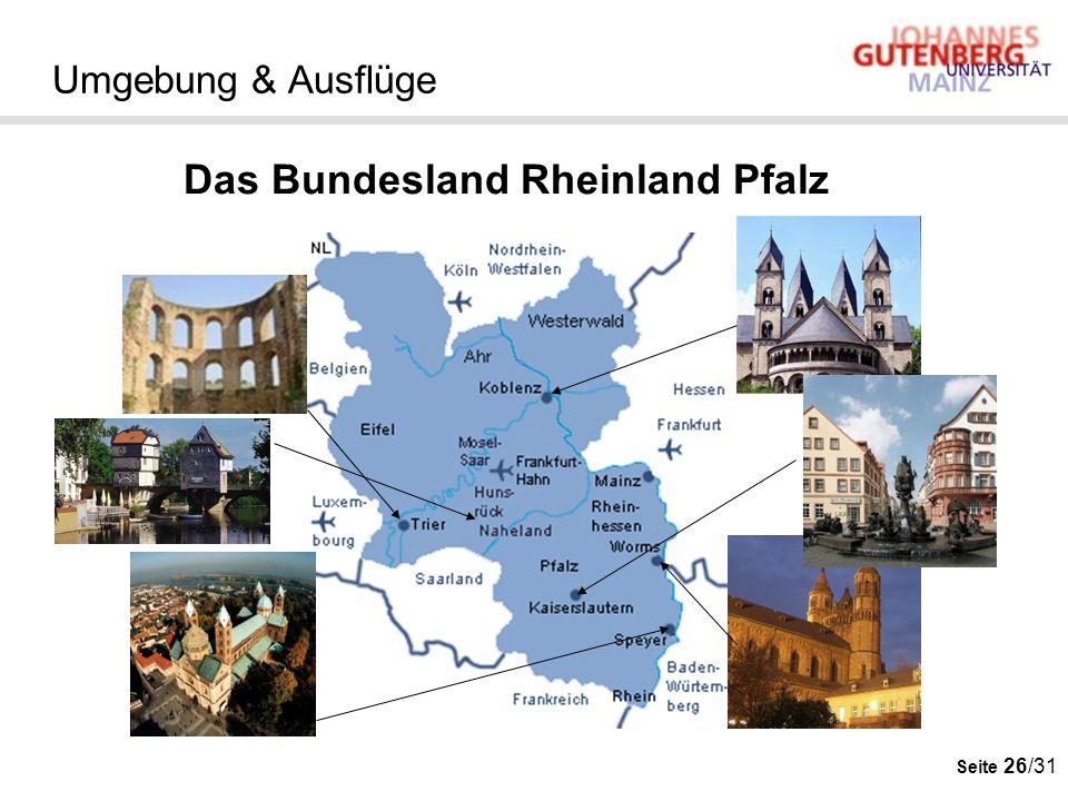 Das Bundesland Rheinland Pfalz