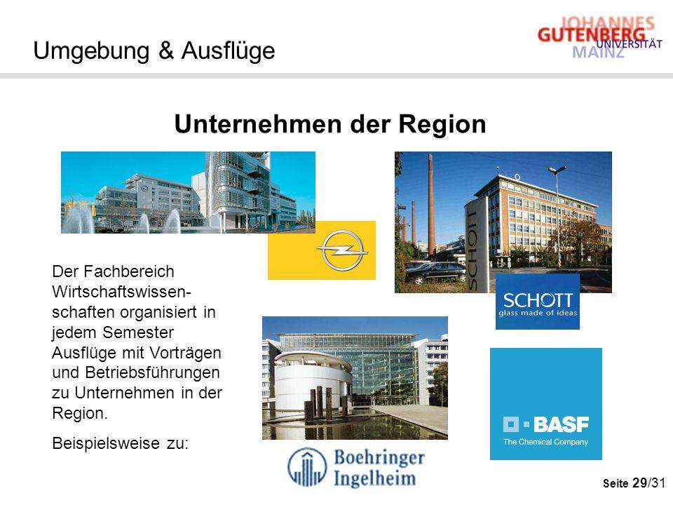 Unternehmen der Region
