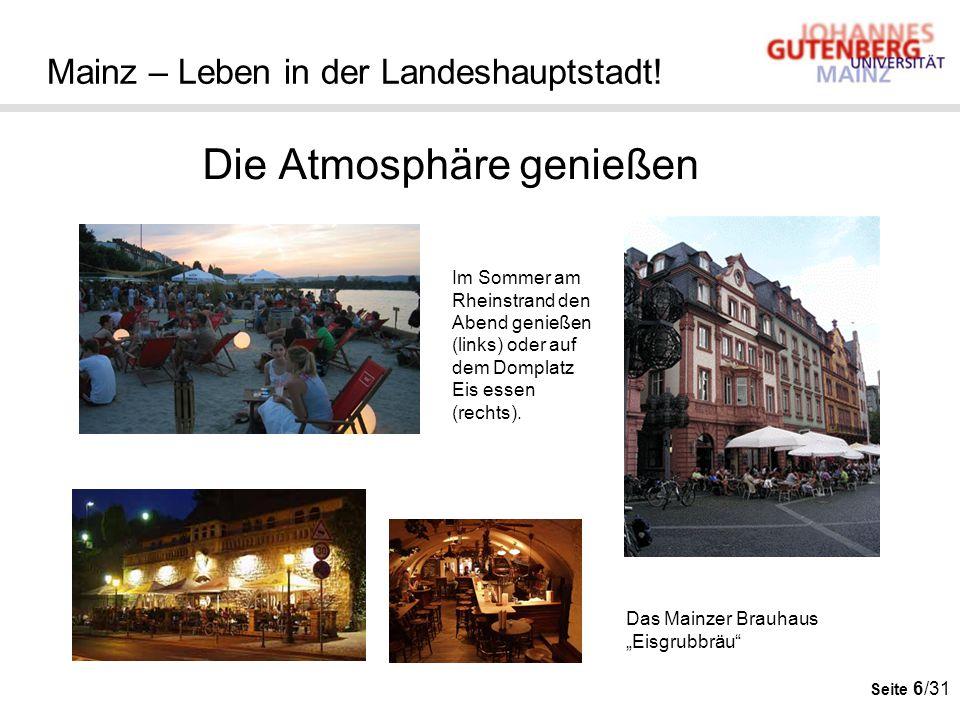 Mainz – Leben in der Landeshauptstadt!