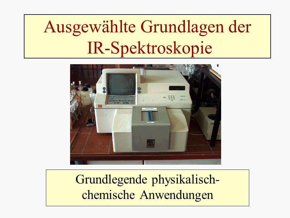 Ausgewählte Grundlagen der IR-Spektroskopie