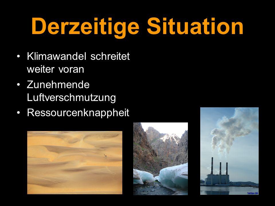 Derzeitige Situation Klimawandel schreitet weiter voran