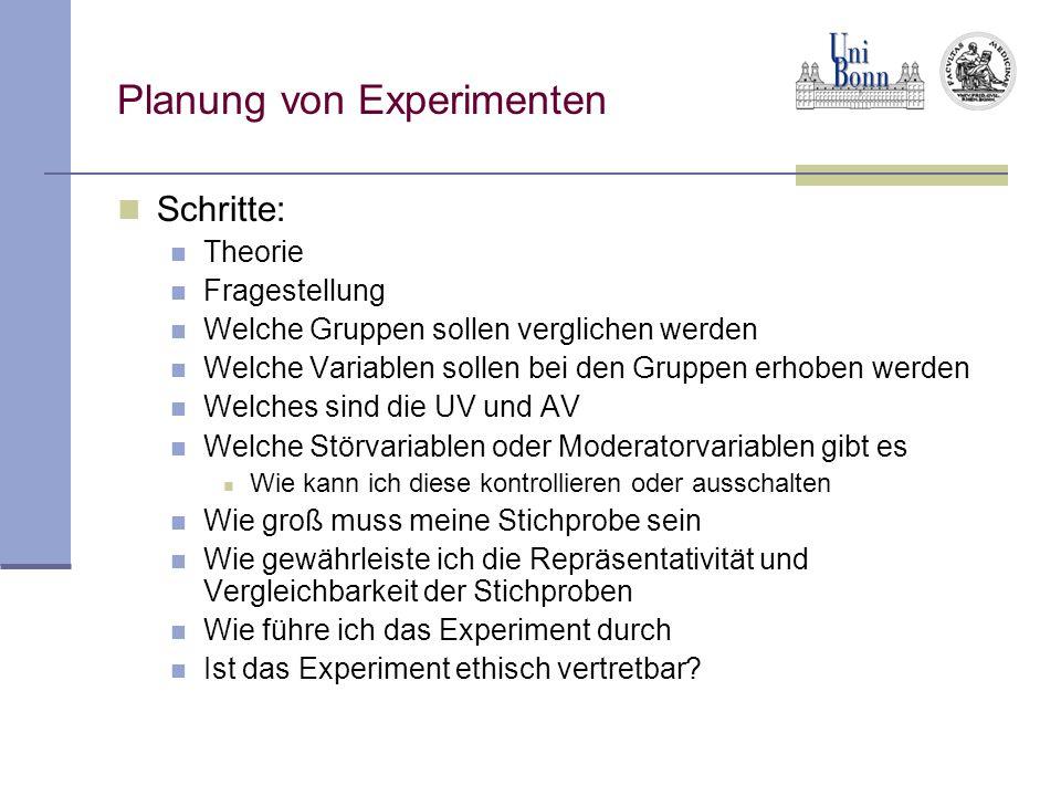 Planung von Experimenten