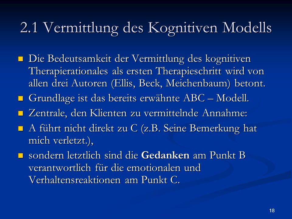 2.1 Vermittlung des Kognitiven Modells