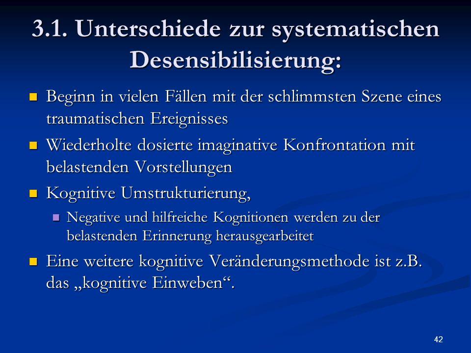 3.1. Unterschiede zur systematischen Desensibilisierung: