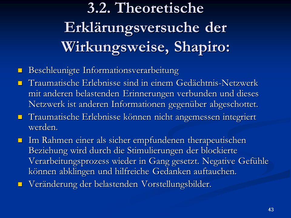 3.2. Theoretische Erklärungsversuche der Wirkungsweise, Shapiro: