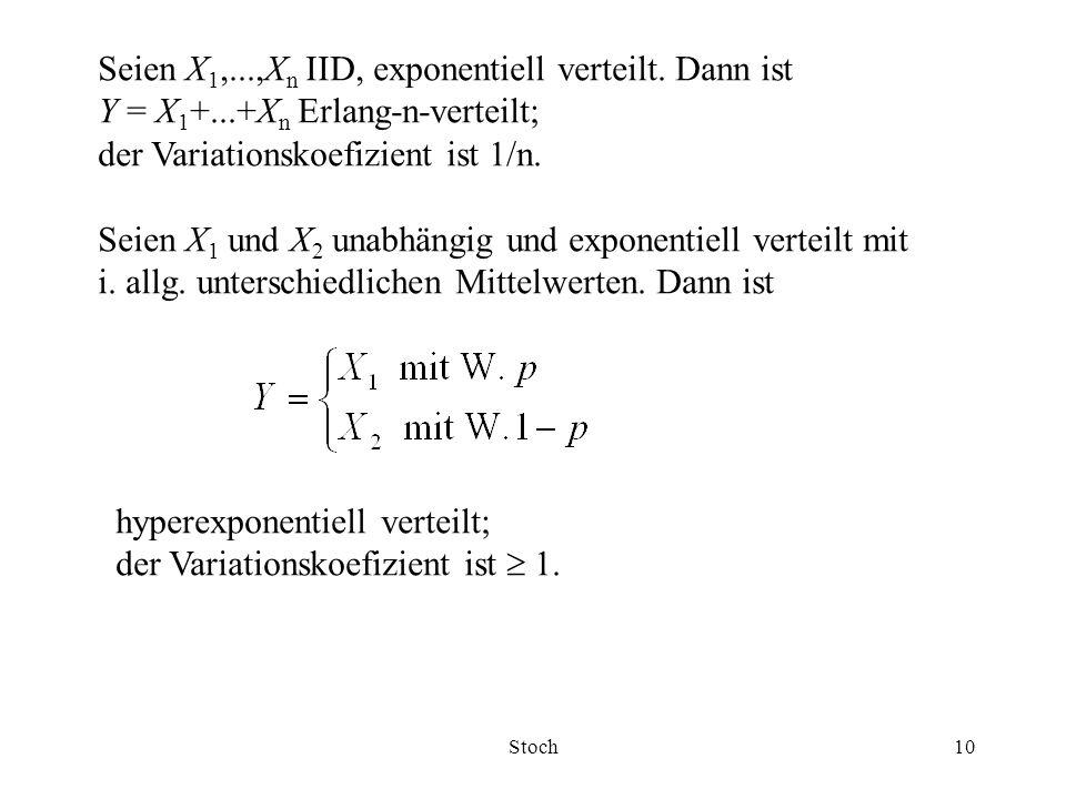 Seien X1,...,Xn IID, exponentiell verteilt. Dann ist