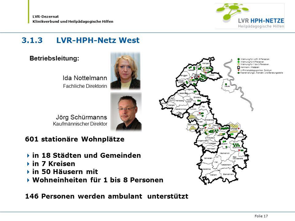 3.1.3 LVR-HPH-Netz West Betriebsleitung: