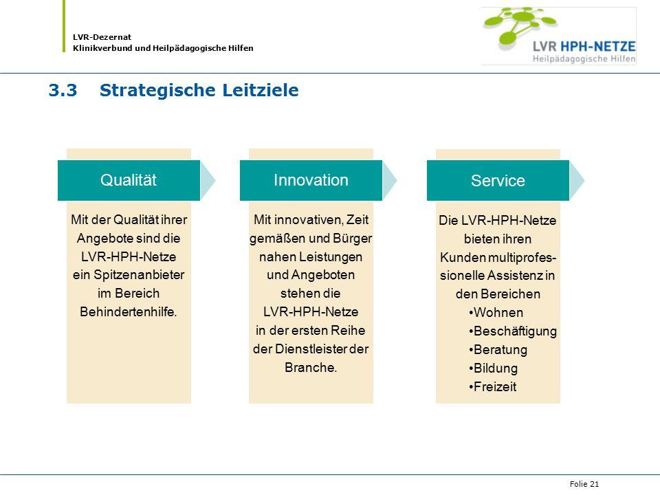 3.3 Strategische Leitziele
