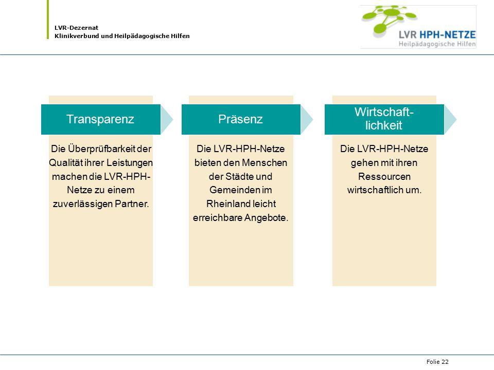 Die LVR-HPH-Netze gehen mit ihren Ressourcen wirtschaftlich um.