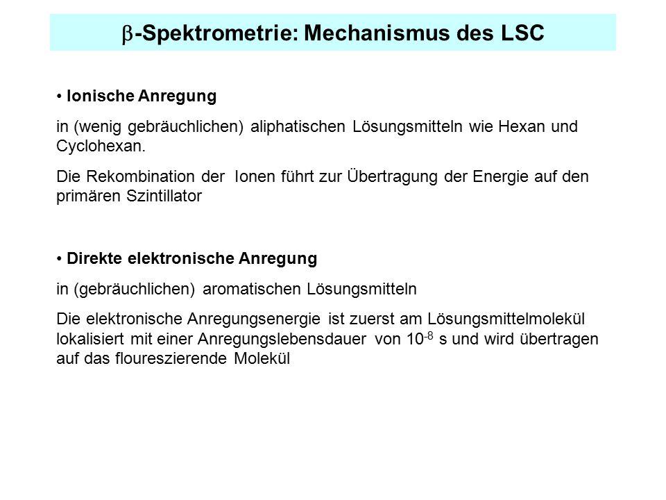 b-Spektrometrie: Mechanismus des LSC