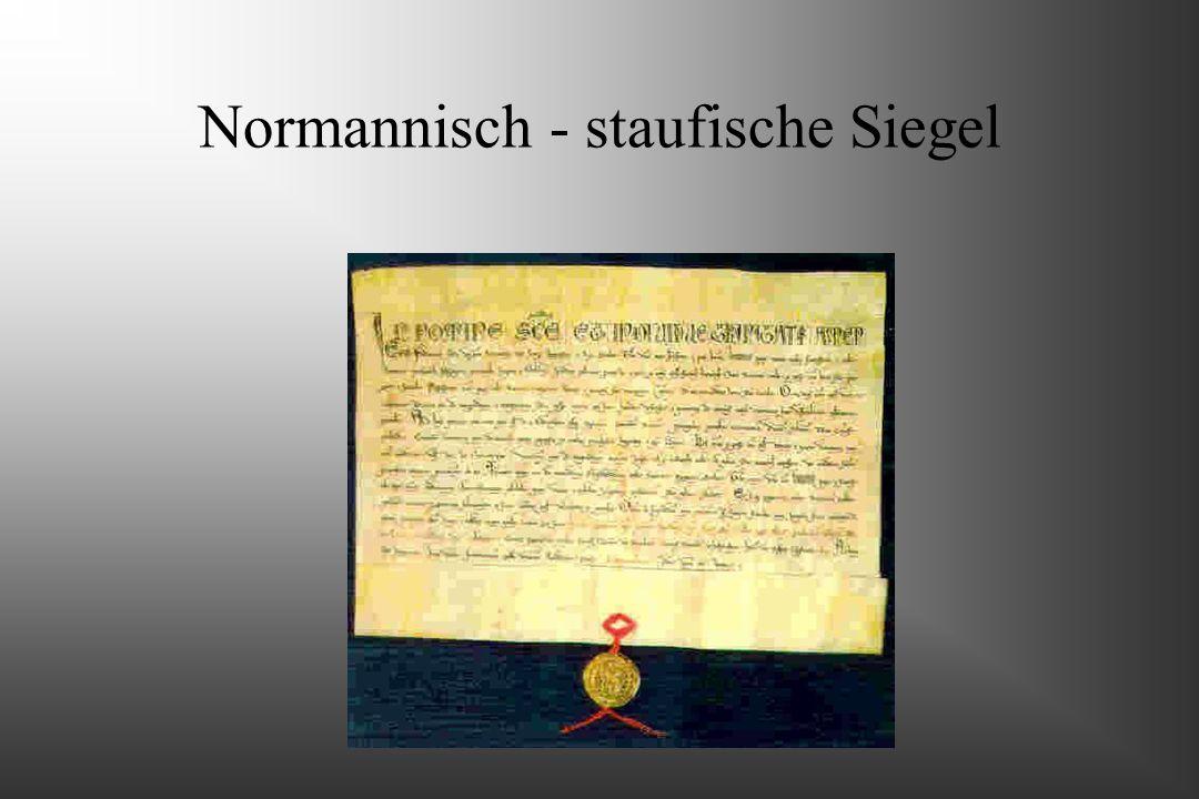 Normannisch - staufische Siegel