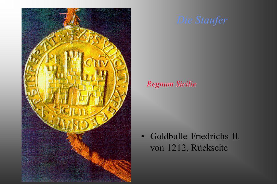 Die Staufer Goldbulle Friedrichs II. von 1212, Rückseite