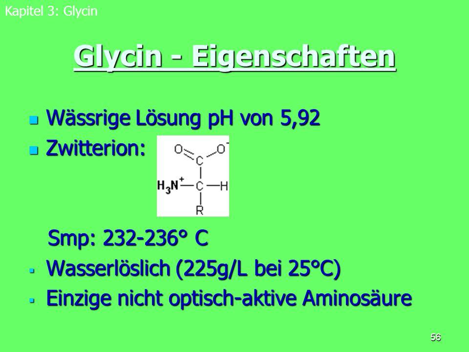 Glycin - Eigenschaften