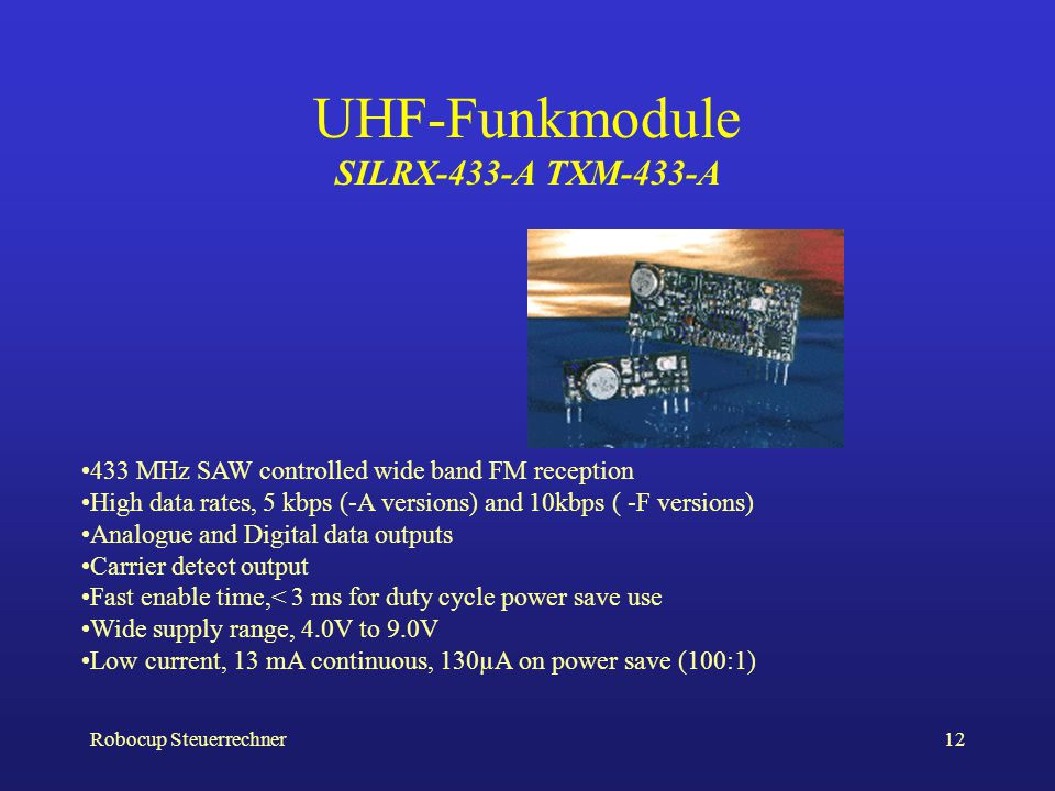 UHF-Funkmodule SILRX-433-A TXM-433-A