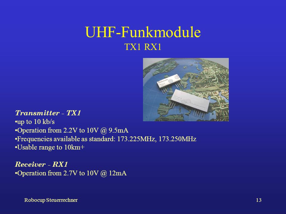 UHF-Funkmodule TX1 RX1 Transmitter - TX1 up to 10 kb/s