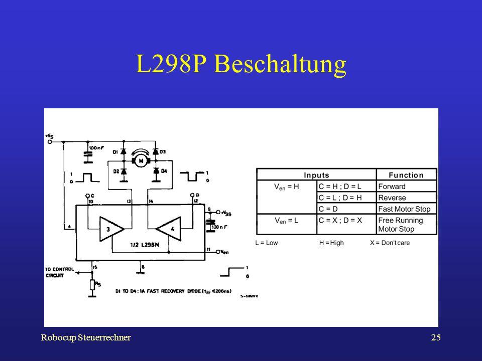 L298P Beschaltung Robocup Steuerrechner