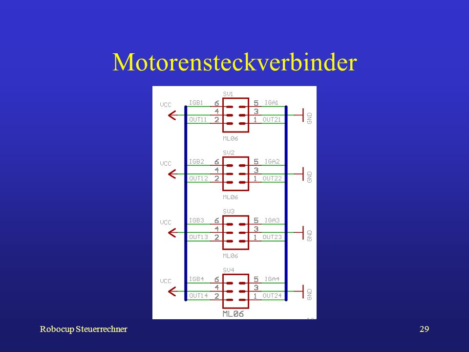 Motorensteckverbinder