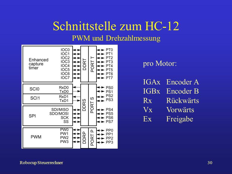 Schnittstelle zum HC-12 PWM und Drehzahlmessung