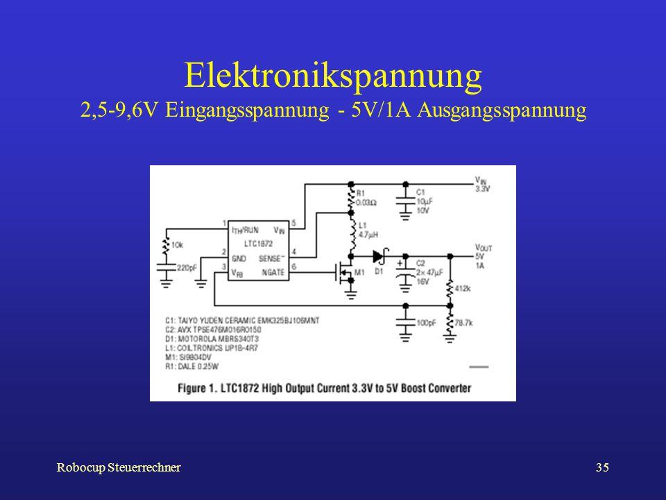Elektronikspannung 2,5-9,6V Eingangsspannung - 5V/1A Ausgangsspannung