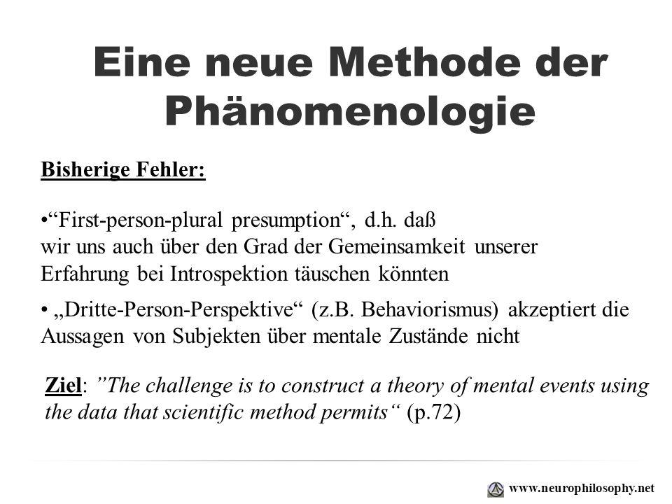 Eine neue Methode der Phänomenologie