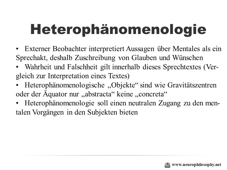 Heterophänomenologie