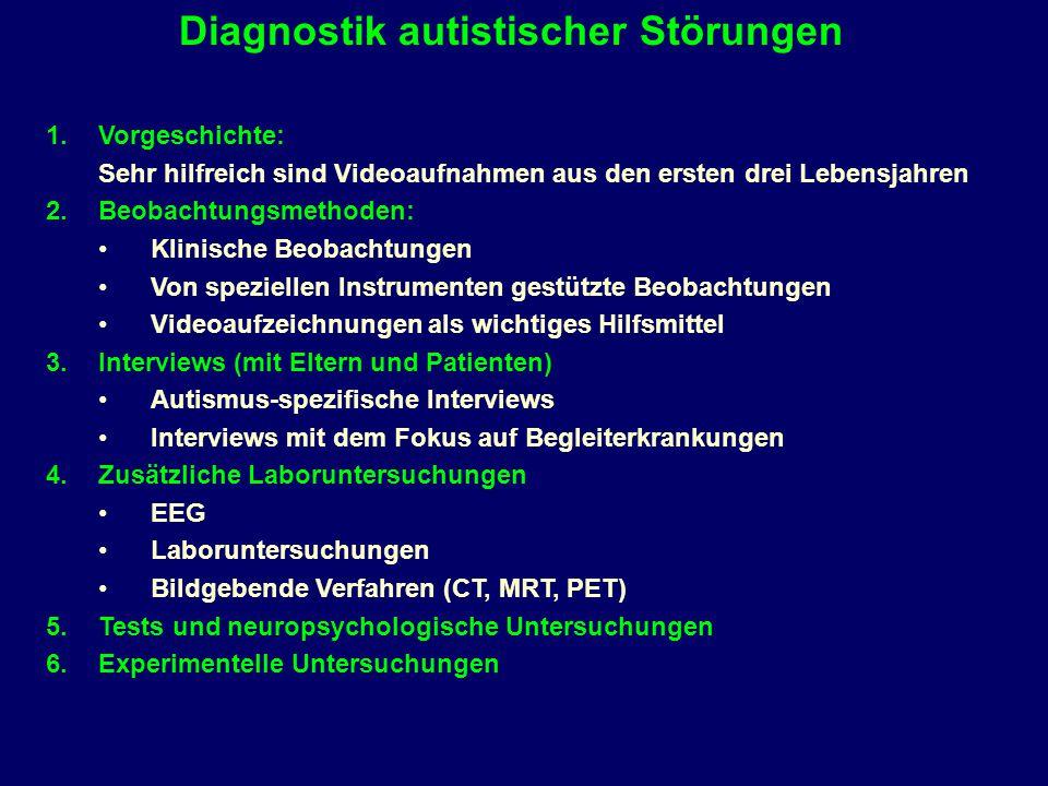 Diagnostik autistischer Störungen