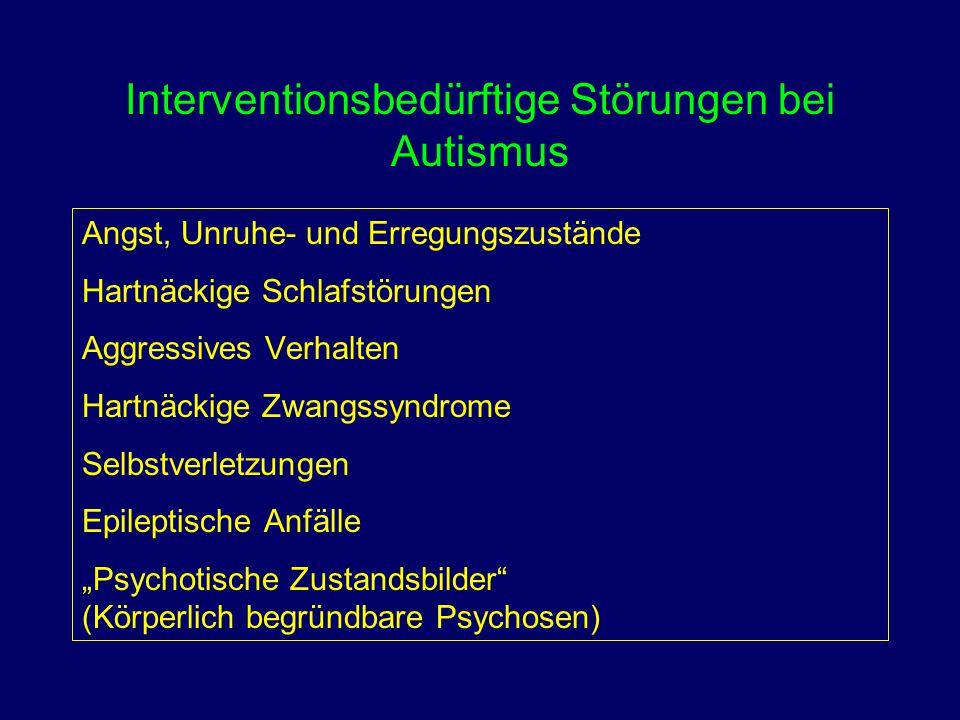 Interventionsbedürftige Störungen bei Autismus