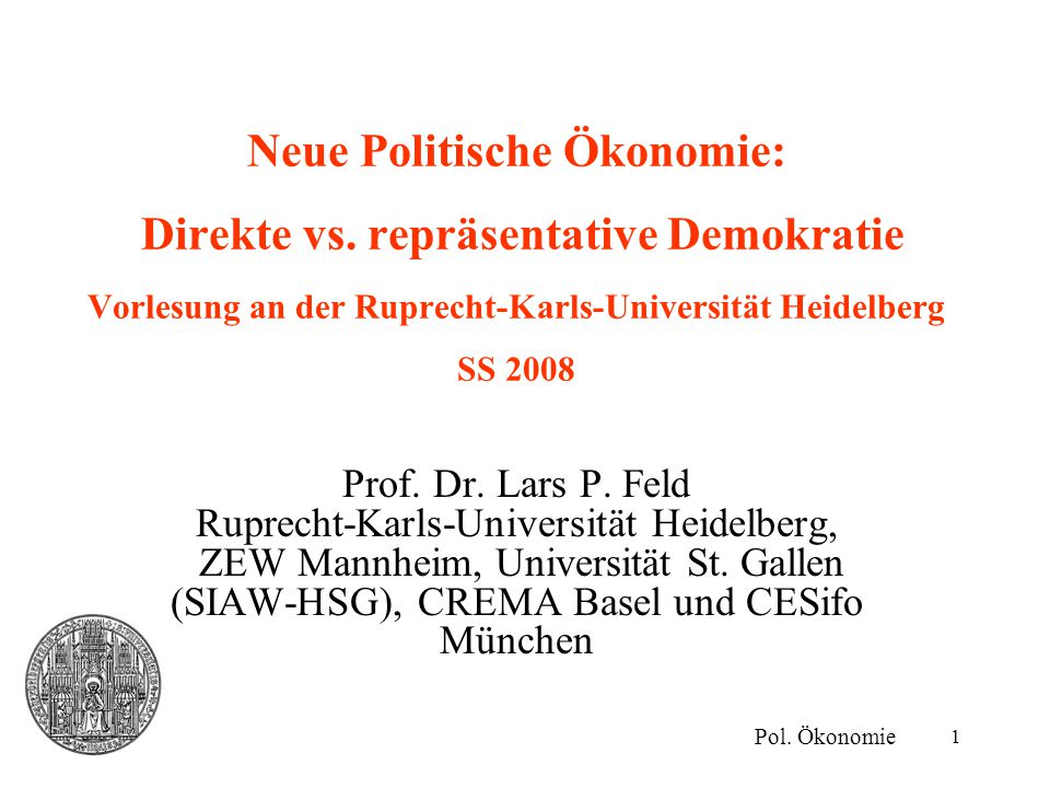 Neue Politische Ökonomie: Direkte vs