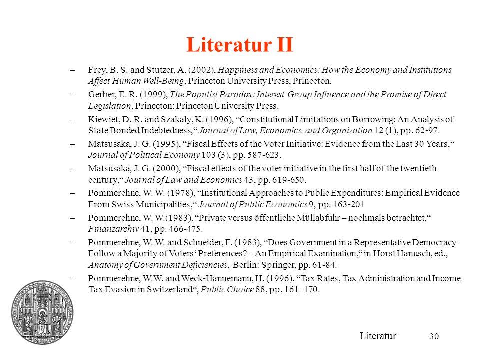 Literatur II Literatur