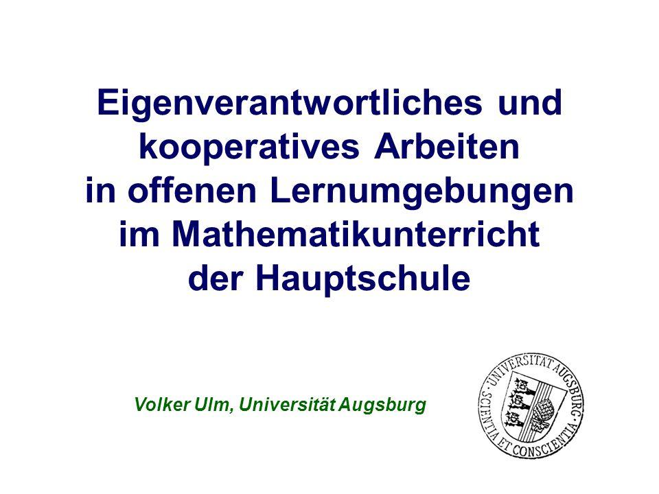 Volker Ulm, Universität Augsburg