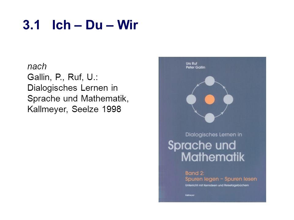 3.1 Ich – Du – Wir nach Gallin, P., Ruf, U.: