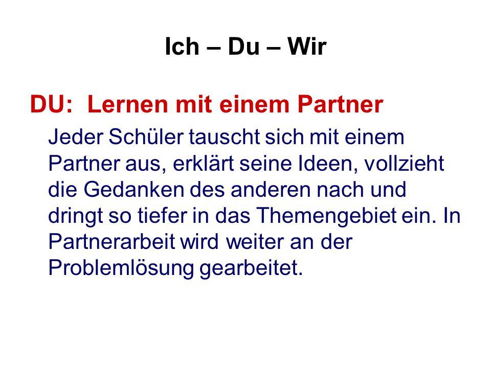 DU: Lernen mit einem Partner