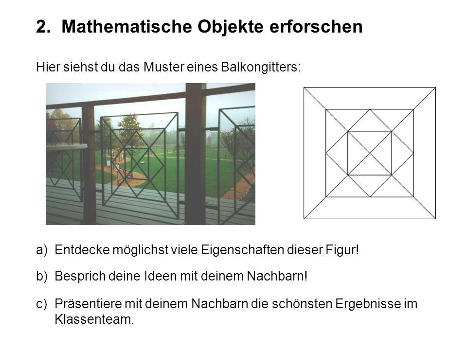 2. Mathematische Objekte erforschen