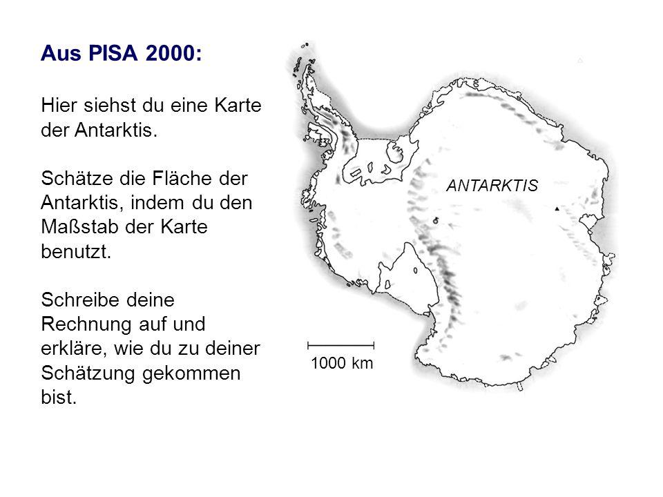 Aus PISA 2000: Hier siehst du eine Karte der Antarktis.