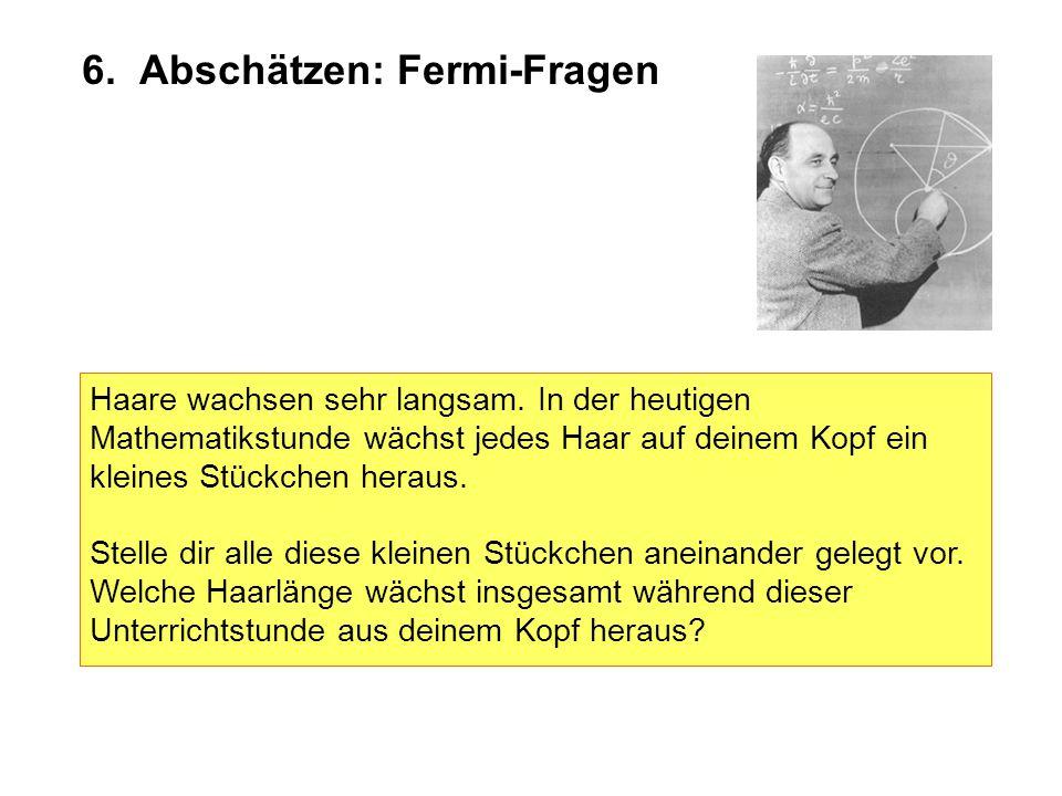 6. Abschätzen: Fermi-Fragen
