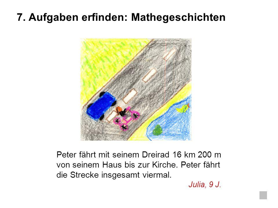 7. Aufgaben erfinden: Mathegeschichten