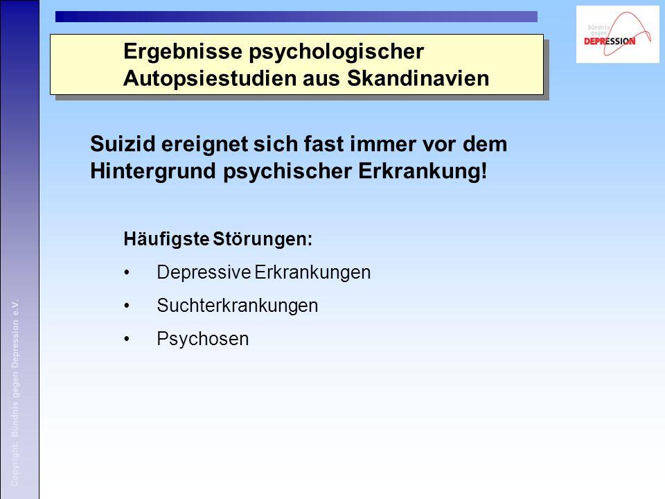 Ergebnisse psychologischer Autopsiestudien aus Skandinavien