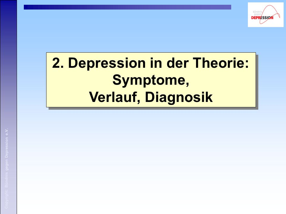 2. Depression in der Theorie: