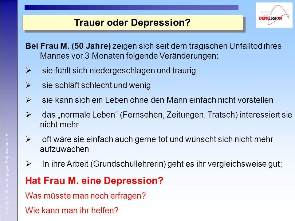 Trauer oder Depression