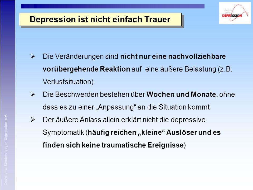 Depression ist nicht einfach Trauer