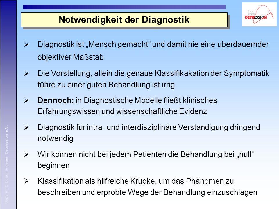 Notwendigkeit der Diagnostik
