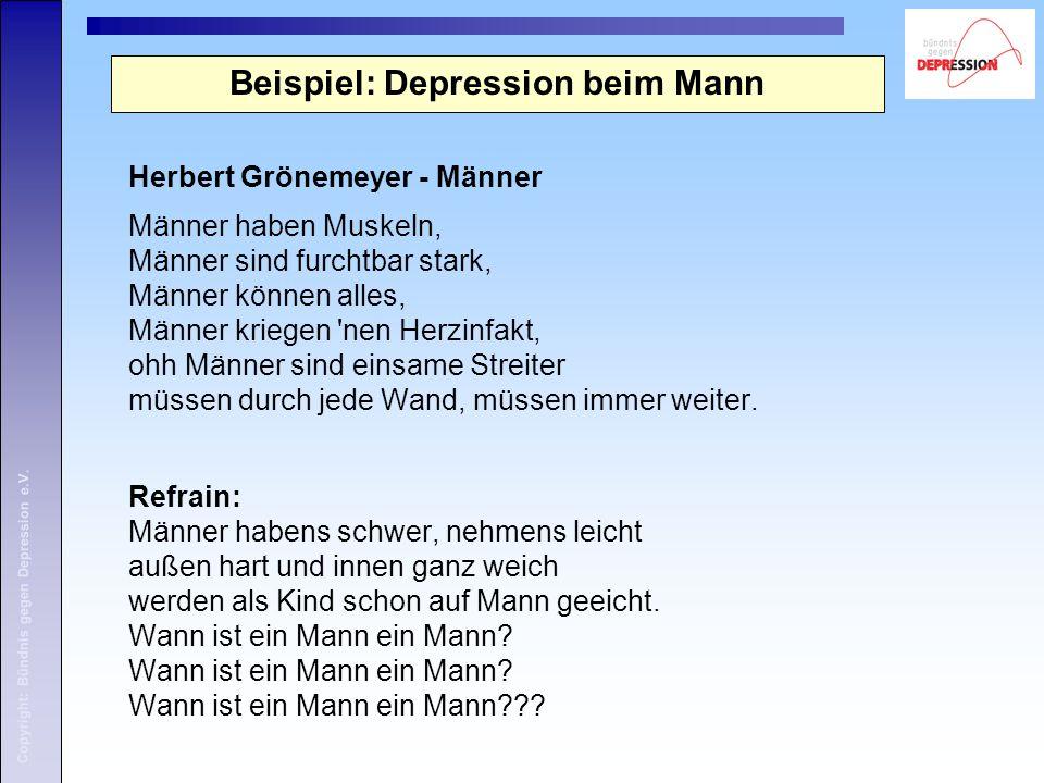 Beispiel: Depression beim Mann
