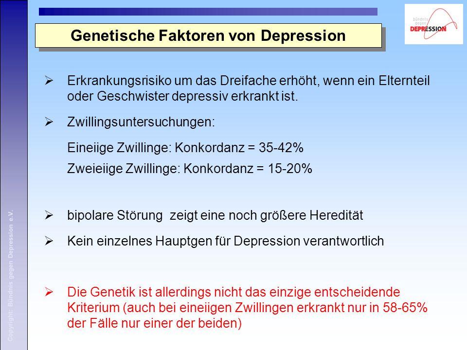 Genetische Faktoren von Depression