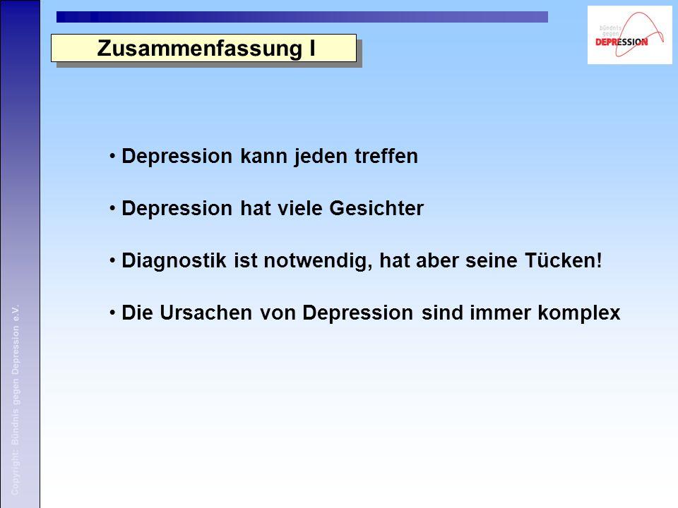 Zusammenfassung I Depression kann jeden treffen