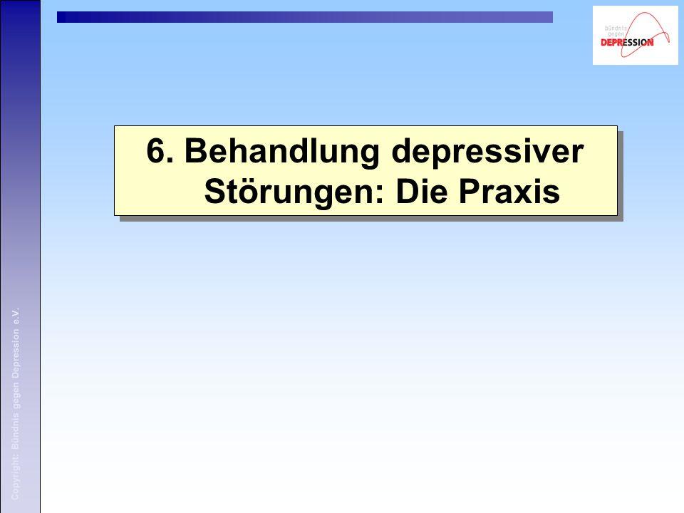 6. Behandlung depressiver Störungen: Die Praxis